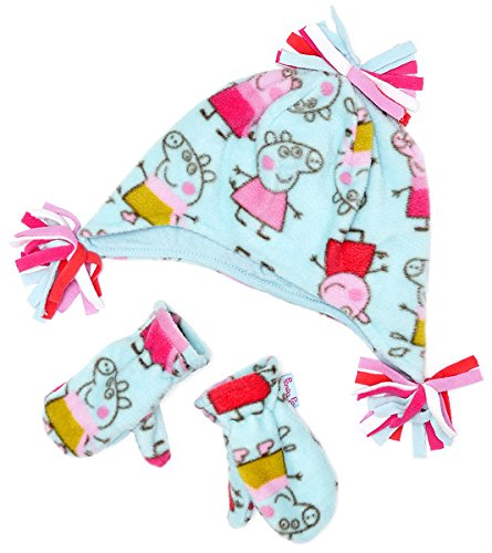 girls-official-peppa-pig-fleece-hat-mittens-winter-set-turquoise-sizes-from-1-to-6-years
