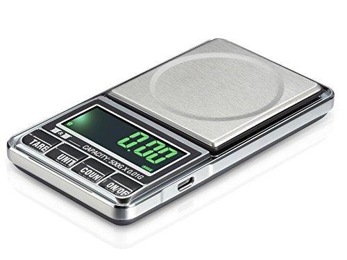 Preisvergleich Produktbild Digital Pocket Maßstab tragbar, leichtes Professionelle Multifunktionale Mini Waage mit LCD-Display mit Hintergrundbeleuchtung mit Tasche für von trimmen Shop (grau), grau