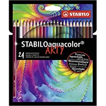 STABILO Colouring Pencil - Stabiloaquacolor Wallet of 24 Assorted Colours