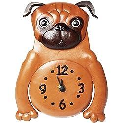 Reloj de pared cuero de perro carlino