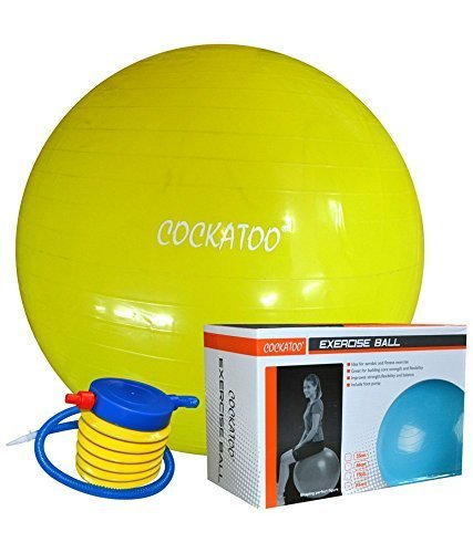 Cockatoo Anti-Burst Gym Ball With Foot Pump, Exercise Ball (85 Cm)
