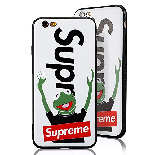 SUP Frog Case [ Passend für iPhone 6, in Weiß ] Supreme x Kermit der Frosch Hülle - Fühlbares 3D-Motiv Cover