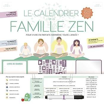 Le calendrier de la famille zen 2019-2020