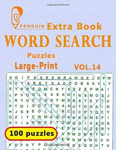 Extra Book  Word Search Puzzles Large-Print: VoL.14 The World's Largest Word Search Puzzle Book boosting entertainment for adults and kids
