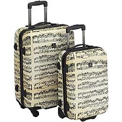 Saxoline Juegos de maletas, 67 cm, 82 L, Beige