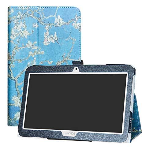 LFDZ Archos Access 101 3G Hülle, Schutzhülle mit Hochwertiges PU Leder Tasche Case für 10.1