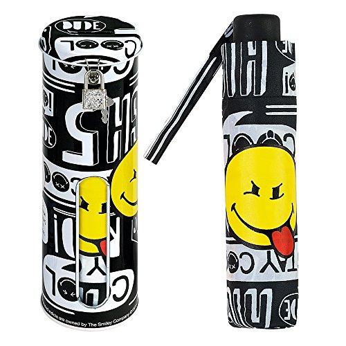 Smiley - Paraguas plegable mediano Hucha regalo -