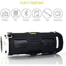 LEICKE DJ Roxxx Active Altavoz portátil estéreo 10W Negro - Altavoces portátiles (De 2 vías, 3,81 cm, 10 W, Inalámbrico y alámbrico, NFC/Bluetooth/3.5 mm, 4.0 EDR)