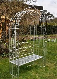 rosenbogen mit bank metall verzinkt gartenbank metallbank lovebank garten. Black Bedroom Furniture Sets. Home Design Ideas