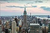 Acrylglasbild 60 x 40 cm: Skyline von Manhattan mit Empire State Building bei Sonnenuntergang, Stadt New York, USA von Matteo Colombo - Wandbild, Acryl Glasbild, Druck auf Acryl Glas Bild