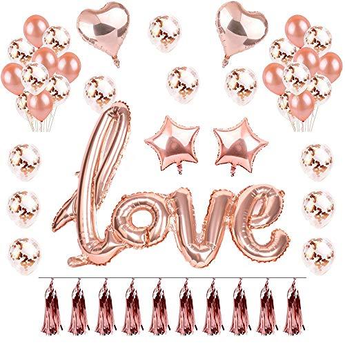 Nvetls Love Globo Romántica Decoración Fiesta Globos para Bodas Nupcial Ducha Aniversario San Valentín