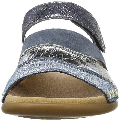 Gabor Damen Fashion Pantoletten Blau (cielo/argento/jean 66)