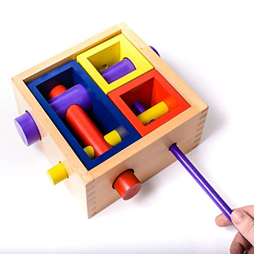 Eduk8 Worldwide, Wooden Puzzle Box Brain Teaser Game