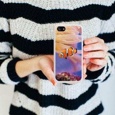 Apple iPhone 3Gs Housse étui coque protection Poisson anémone Poisson clown Poisson Némo Housse en silicone blanc