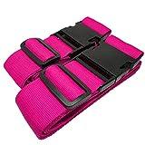 MONVENDO Koffergurt/Kofferband Kofferstyle 200 cm 2-teilig Pink Rosa