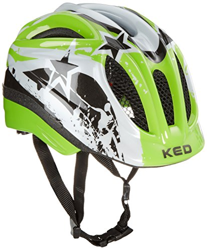 KED Fahrradhelm Meggy, Green Stars, 49-55 cm, 15409179SM (Jugend-multi-sport-helm)