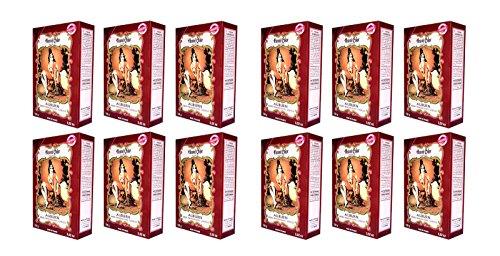 12 X 100g Henna Color Naturhaarfärbemittel Pulver Farbe Öko Mahagoni dunkel (auburn) - 12Stück - Color Henna Pulver