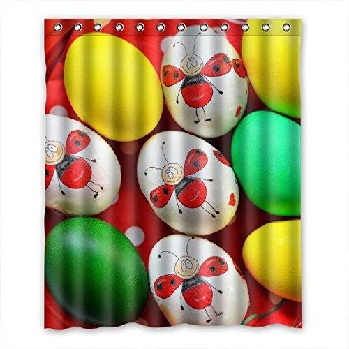 Tessuto impermeabile DOUBEE Easter-Tenda per doccia a strisce 152,40 cm x (60 182,88 (72 cm, poliest