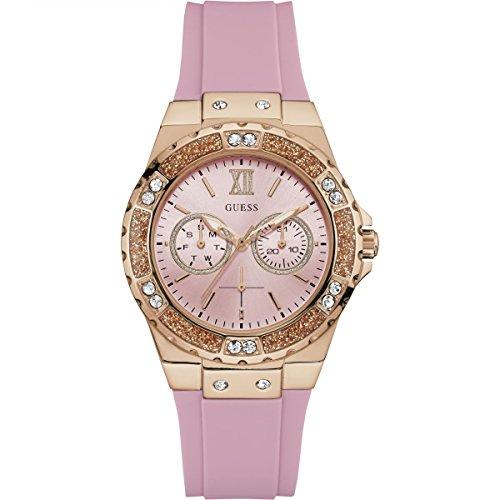 Guess Reloj Analógico para Mujer de Cuarzo con Correa en Silicona W1053L3