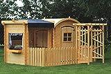 TIMBELA M505+M080M Maisonnette en Bois avec abri et terrasse- Maison de Jardin pour...