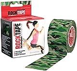 "Rocktape Kinesiology Tape 5cm x 5m / 2"" x 16.4' Sport Fitness (Green Camo)"