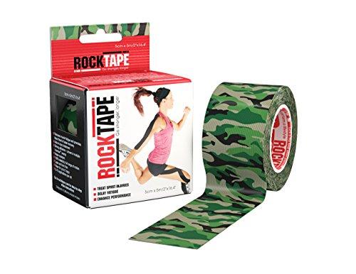 RockTape Standard Tape, 5cm x 5m, Camo Classic green, 1 Stück