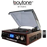 Best Vinyl  Turntable - Boytone BT-17DJM-C 3-speed Stereo Turntable 2 Built in Review