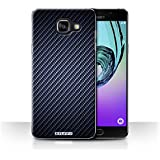 Coque de Stuff4 / Coque pour Samsung Galaxy A5 (2016) / Bleu Design / Motif de Fibre de Carbone Collection