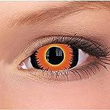 Lensmam Kontaktlinsen Mini Sclera, farbige 6 Monatslinsen, Diablo, Ohne Sehstärke, 1 Stück