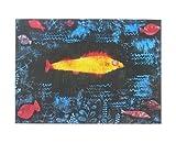Paul Klee Poster Kunstdruck Bild Der goldene Fisch 50x40cm - Kostenloser Versand
