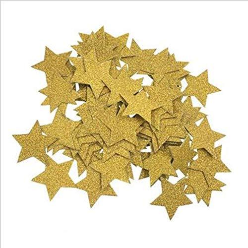 Vazan - 200pcs Sterne Glitter Tabelle Confetti-Geburtstags-Party Hochzeit Dekoration Sparkle Multicolor/Gold / Blau/Rose Papierconfetti Supplies [5 2pc]