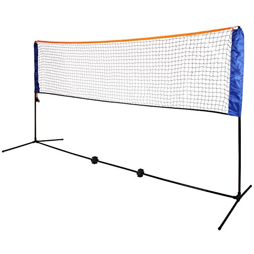 Oypla Large 5m Adjustable Foldable Badminton Tennis Volleyball Net