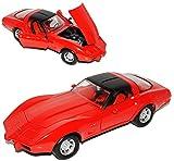 Motormax Chevrolet Chevy Corvette C3 Coupe Rot 1979 Stingray 1967-1982 1/24 Modell Auto mit individiuellem Wunschkennzeichen
