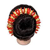 Majik Hair Gajra, Juda Accessories Pearls (Moti) Hair Gajra (Veni) For Girls And Women Pack Of 1 (Red)
