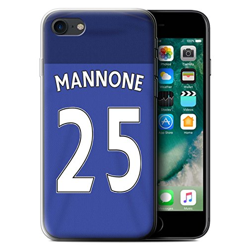 Offiziell Sunderland AFC Hülle / Gel TPU Case für Apple iPhone 7 / Matthews Muster / SAFC Trikot Home 15/16 Kollektion Mannone