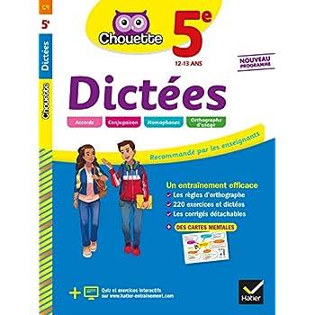 Dictées 5e: cahier d'entraînement en orthographe