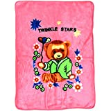 LeMaDrid Super Soft Baby Blanket With Cute Teddy Bear Print, 1-3Years, Deep Pink
