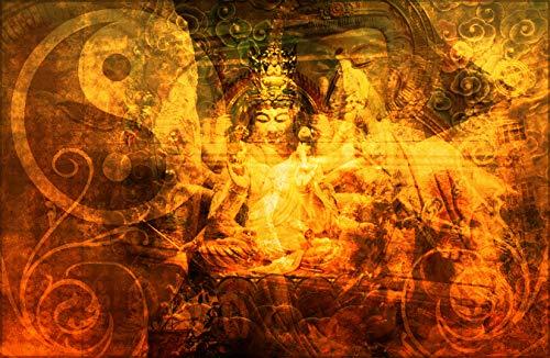 Bilderdepot24 Fototapete selbstklebend Buddha - Ying Yang - 230x150 cm - Wandposter Tapete Motivtapete - Buddhismus und Religion