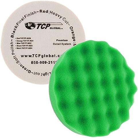 8 Green Waffle Fine Foam Buffing Grip