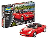 Revell 07690 10 Spielzeug Modellbausatz Porsche Boxster im Maßstab 1:24, Level 3, rot