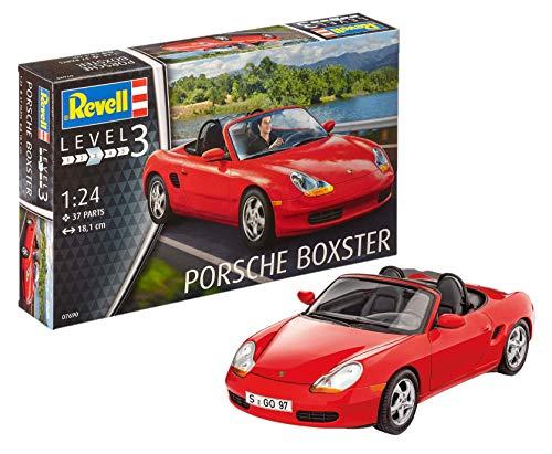 Revell 07690 Modellbausatz Porsche Boxster im Maßstab 1:24, Level 3, Rot (Porsche Boxster Teile)