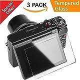 Protector de pantalla Canon G7X Mark II (3 paquetes), CAVN 9H HD-Clear Película de vidrio templado...