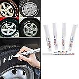 5PCS Auto Moto Auto Permanent Reifen Lauffläche Gummi Marker Paint Pen Wasserdicht NEU