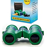 Shock Proof 8x21 Kids Binoculars Set - For Bird Watching - Educational Learning - Stargazing - Hunting - Hiking - Sports Games - Outdoor Adventure - Astronomy USA SELLER