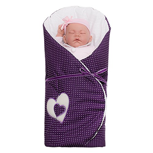 Sevira Kids - Gigoteuse d'emmaillotage Multi-Usage en 100% coton certifié, Nid d'ange naissance Hearts