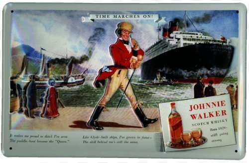 aluminium-sign-art-deco-johnnie-walker-whiskey-time-marches-on-300x200-mm