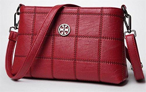 Great Strange Lady Handtasche einzigen Umhängetasche Messenger Bag Shopping Work (fünf Farben) einfach , grey red