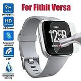 Sisit Gehärtetes Glas für Fitbit Versa, HD gehärtetem Glas LCD-Displayschutzfolie für Fitbit Versa (a)