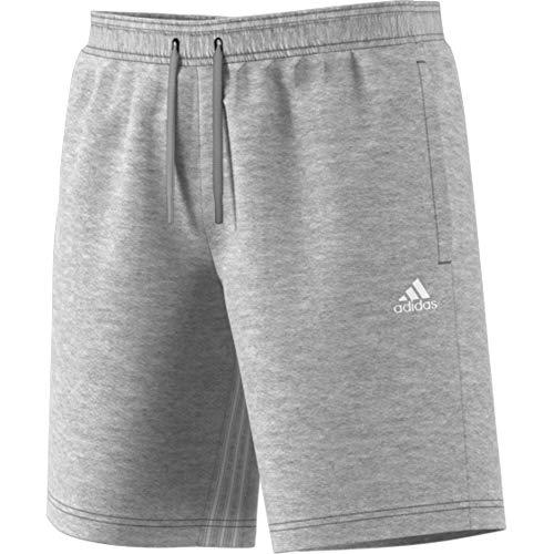 adidas Herren M MH 3S Sport Shorts, medium Grey Heather/White, 2XL (Adidas Männer Gym)