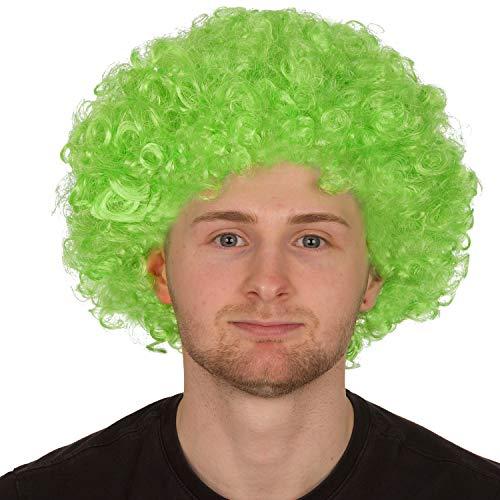Redstar Fancy Dress - Afro-Perücke für Erwachsene - Locken - Party Clown Kostüm - Accessoire - Grün